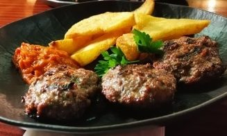 Grilled horse meatballs