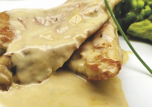 Chicken fillet in a sauce