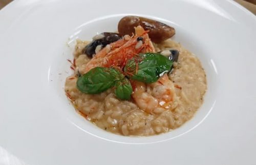 Risotto with shrimp and octopus