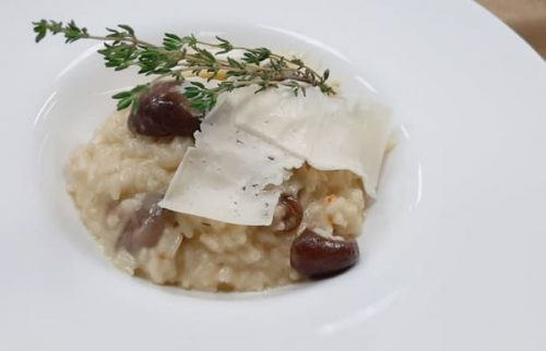 Risotto with wild mushrooms and truffle oil