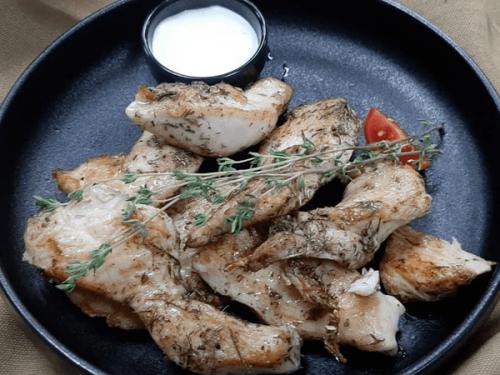 Juicy chicken fillets