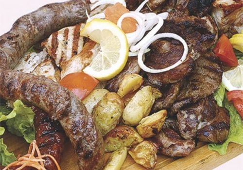 grilled meat selection