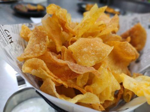 Homemade crisps